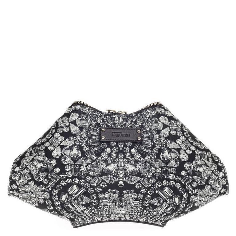 Alexander McQueen De Manta Clutch Print Textile Medium 4