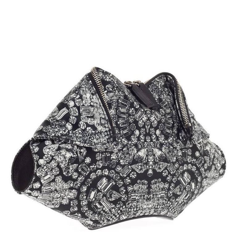 Alexander McQueen De Manta Clutch Print Textile Medium 3