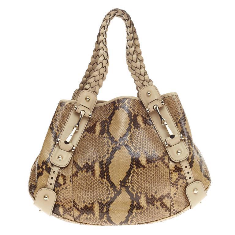 abc1745678d8af Gucci Pelham Shoulder Bag Python Medium at 1stdibs