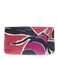 Burberry Book Cover Pouch Printed Leather