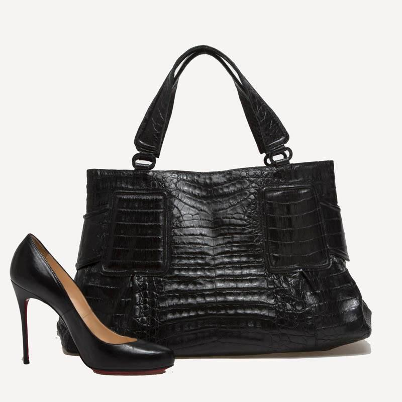 Nancy gonzalez tote crocodile medium at 1stdibs for Nancy gonzalez crocodile tote