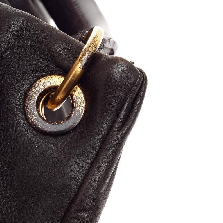 5b7655df05b6 Miu Miu Bosco Convertible Hobo Pleated Leather Large at 1stdibs