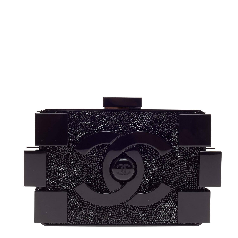 Chanel Lego Clutch Crystal Embellished Plexiglass at 1stdibs