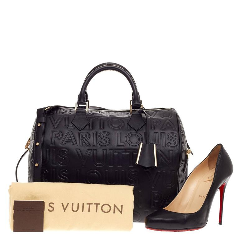 This authentic Louis Vuitton Paris Speedy Cube Embossed Leather 30  presented in the brand s Fall  ef90bbdff7