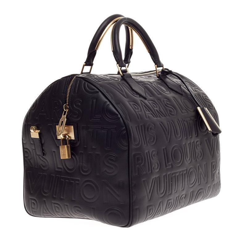 Black Louis Vuitton Paris Speedy Cube Embossed Leather 30 For Sale 26e6f39f2c