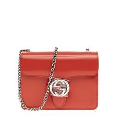 Gucci Interlocking Shoulder Bag Patent Small
