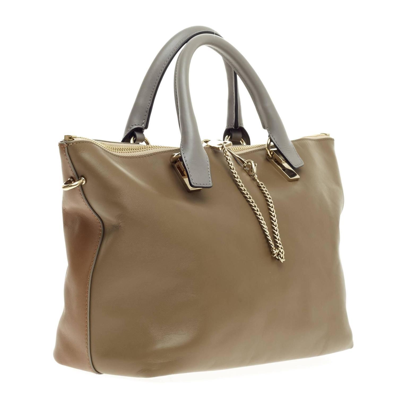 how to spot a fake chloe handbag - Chloe Bicolor Baylee Satchel Leather Medium at 1stdibs