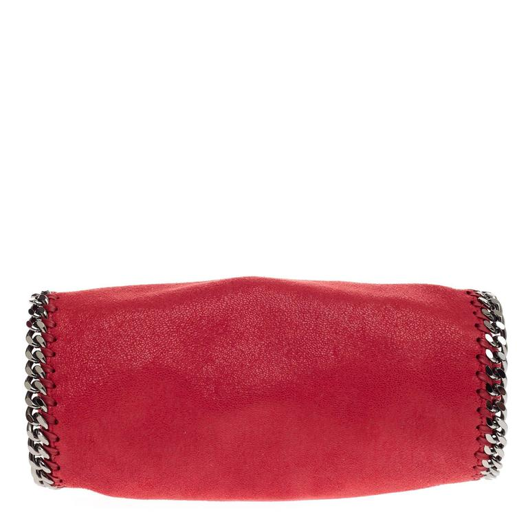 Stella Mccartney Falabella Fold Over Crossbody Shaggy Deer