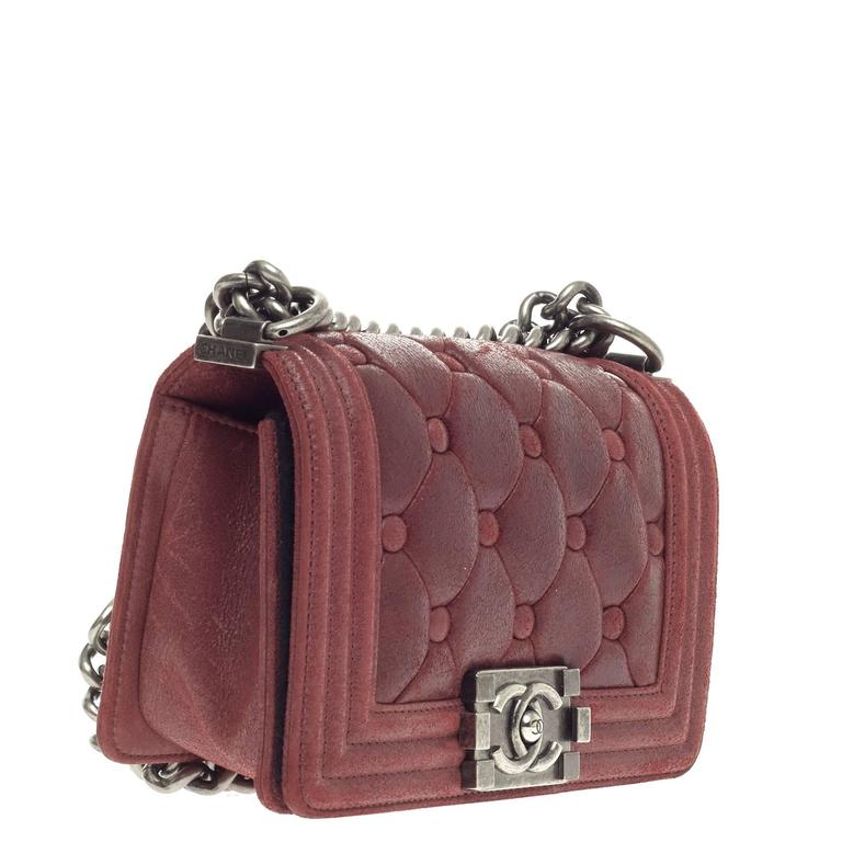 47197e75fa67 Brown Chanel Celtic Boy Flap Chesterfield Padding Iridescent Calfskin Small  For Sale