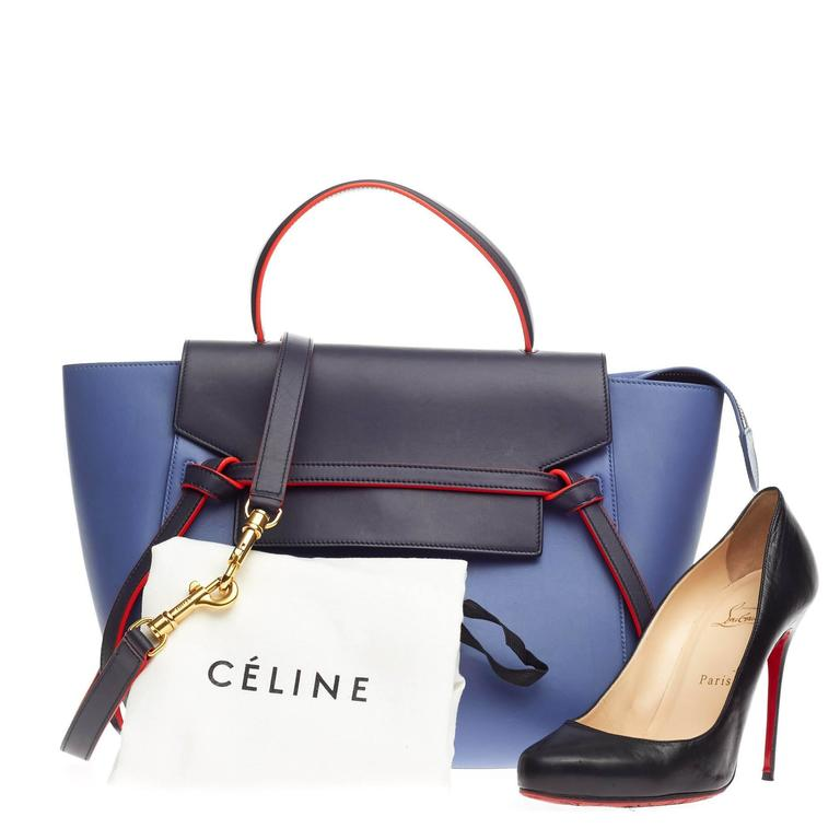 501e59a7b7f This authentic Celine Bicolor Belt Bag Leather Mini presented in the  brand s Spring Summer 2015