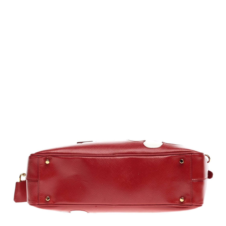 authentic prada handbags discount - Prada Flowers Bauletto Vernice Saffiano Leather Medium at 1stdibs