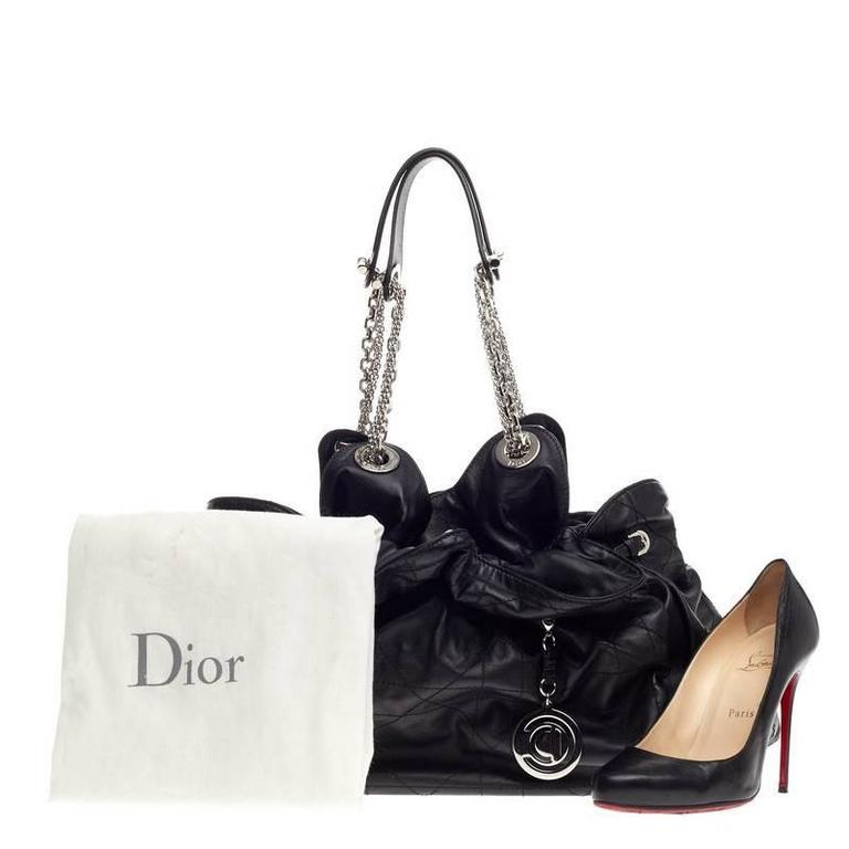 0a36b93236 This authentic Christian Dior Le Trente Bag Cannage Quilt Leather from the  brand's Le 30 Collection