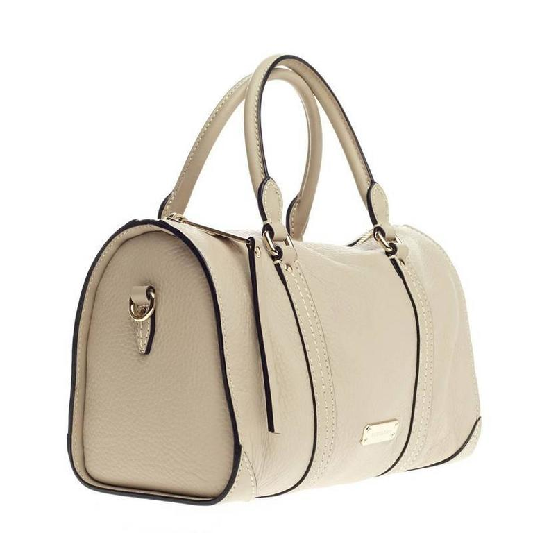 Beige Burberry Alchester Bowling Bag Leather Medium For Sale 9cae7f900a649