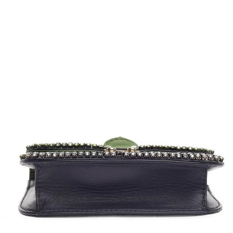 Valentino Glam Lock Shoulder Bag Crystal Embellished Leather Small 5