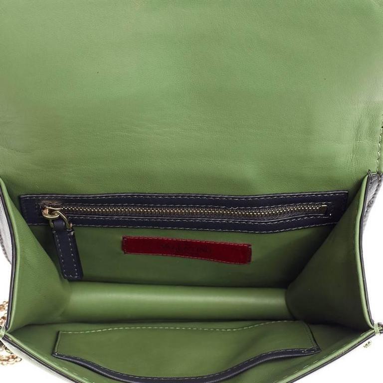 Valentino Glam Lock Shoulder Bag Crystal Embellished Leather Small For Sale 2