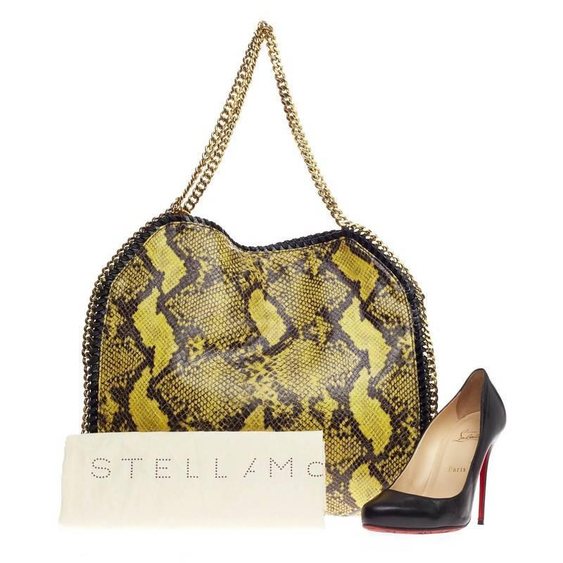 stella mccartney falabella tote faux snakeskin small for sale at 1stdibs. Black Bedroom Furniture Sets. Home Design Ideas