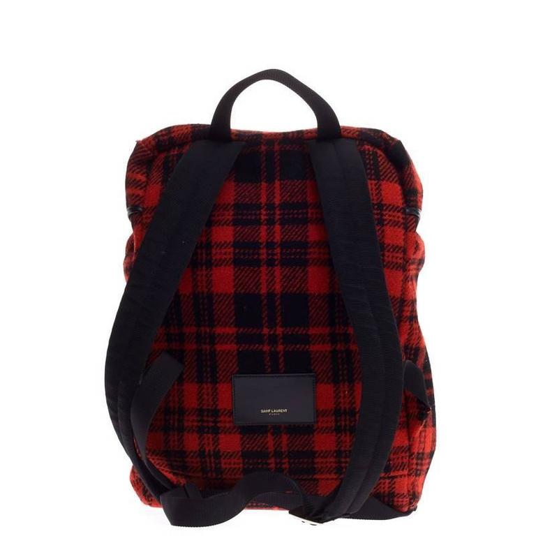 Saint Laurent Hunting Backpack Wool In Good Condition For Sale In New York, NY