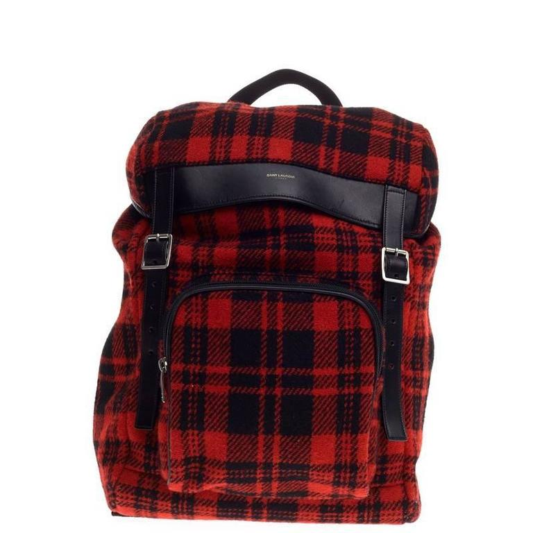 Saint Laurent Hunting Backpack Wool For Sale