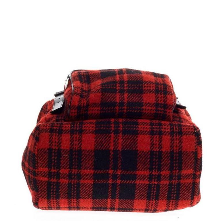 Women's Saint Laurent Hunting Backpack Wool For Sale