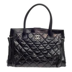 Chanel Executive Tote Quilted Glazed Calfskin Large