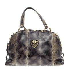 Gucci Babouska Heart Dome Satchel Python Medium