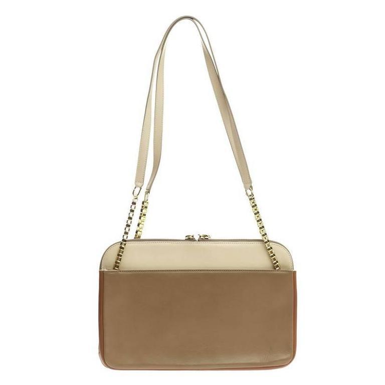 Chloe Lucy Lock Shoulder Bag Leather Medium 4