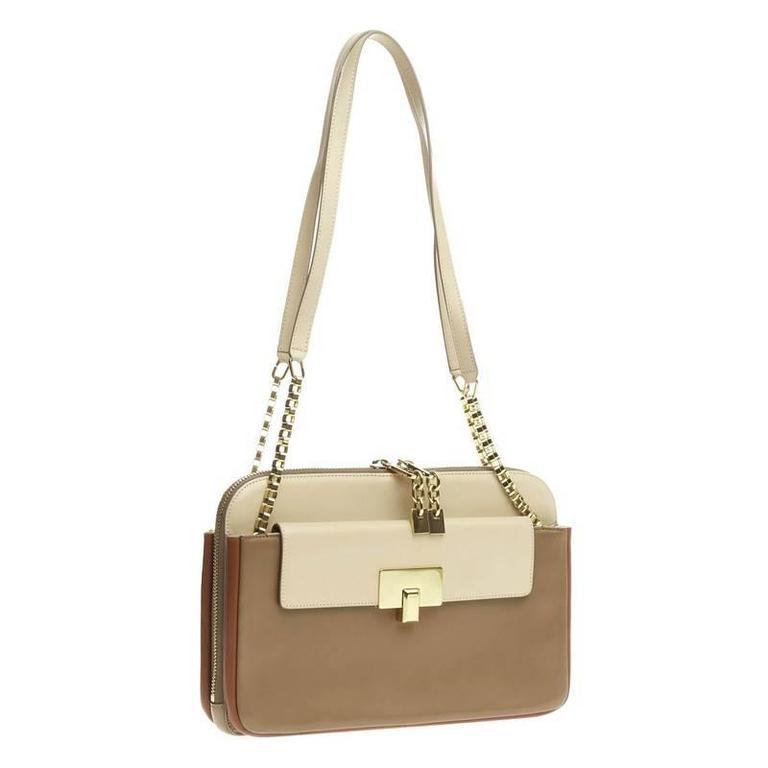 Chloe Lucy Lock Shoulder Bag Leather Medium 3