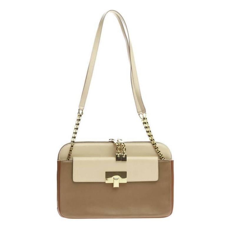 Chloe Lucy Lock Shoulder Bag Leather Medium 1