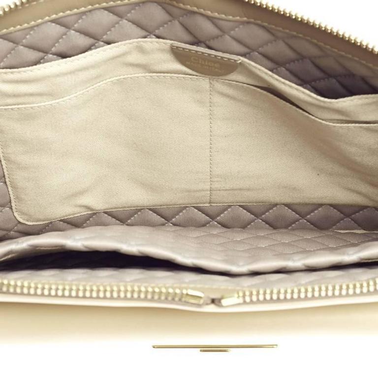 Chloe Lucy Lock Shoulder Bag Leather Medium 6