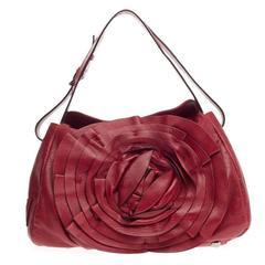 Valentino Petale Flap Shoulder Bag Leather