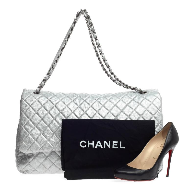 227f02a13bd2 This authentic Chanel Airlines CC Flap Quilted Calfskin XXL presented in Chanel  Spring Summer 2016