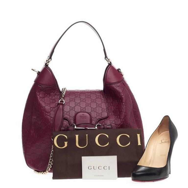 80114b45777966 This authentic Gucci Emily Hobo Guccissima Leather Medium is a stylish  accessory perfect for everyday casual