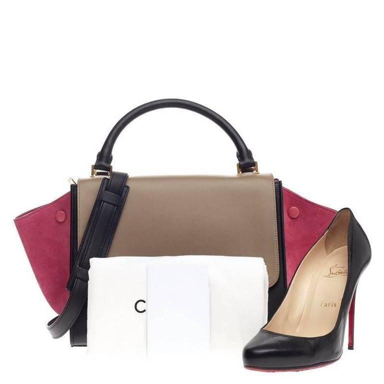 Celine Tricolor Trapeze Leather Small 2