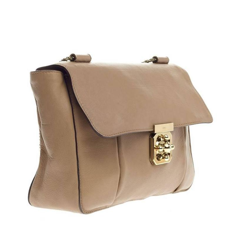 f9972530484d7 Chloe Elsie Chain Shoulder Bag Leather Large In Good Condition For Sale In  New York,