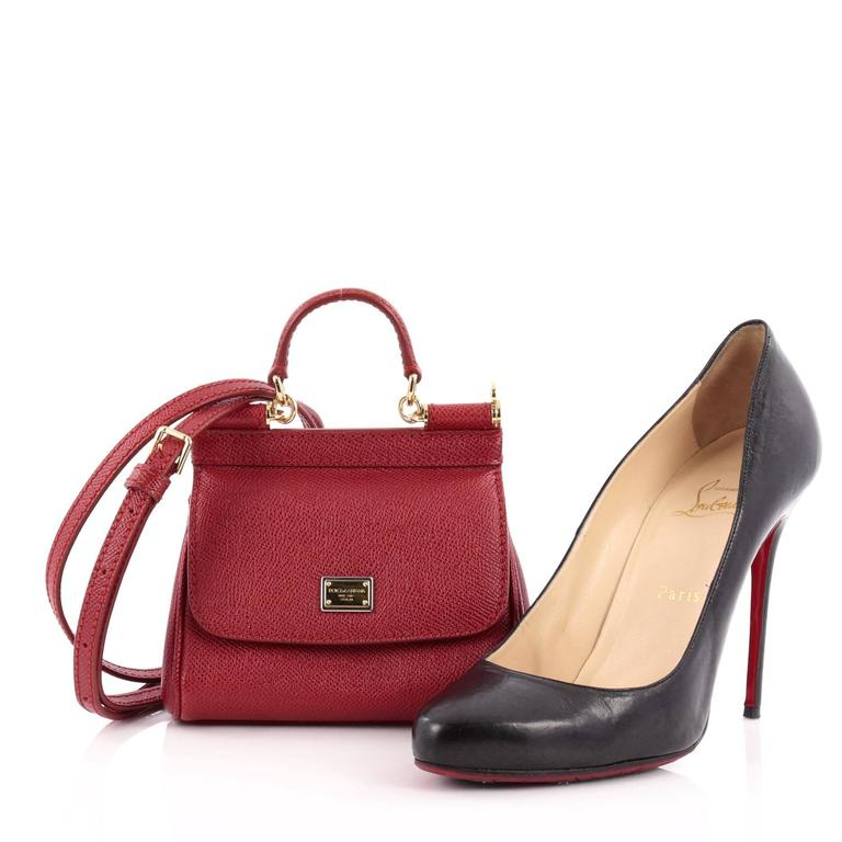 This authentic Dolce   Gabbana Miss Sicily Leather Micro pays homage to the  designers  Sicilian c9b81cf3fb
