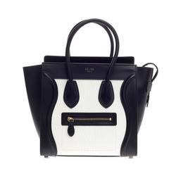 Celine Bicolor Luggage Leather Micro