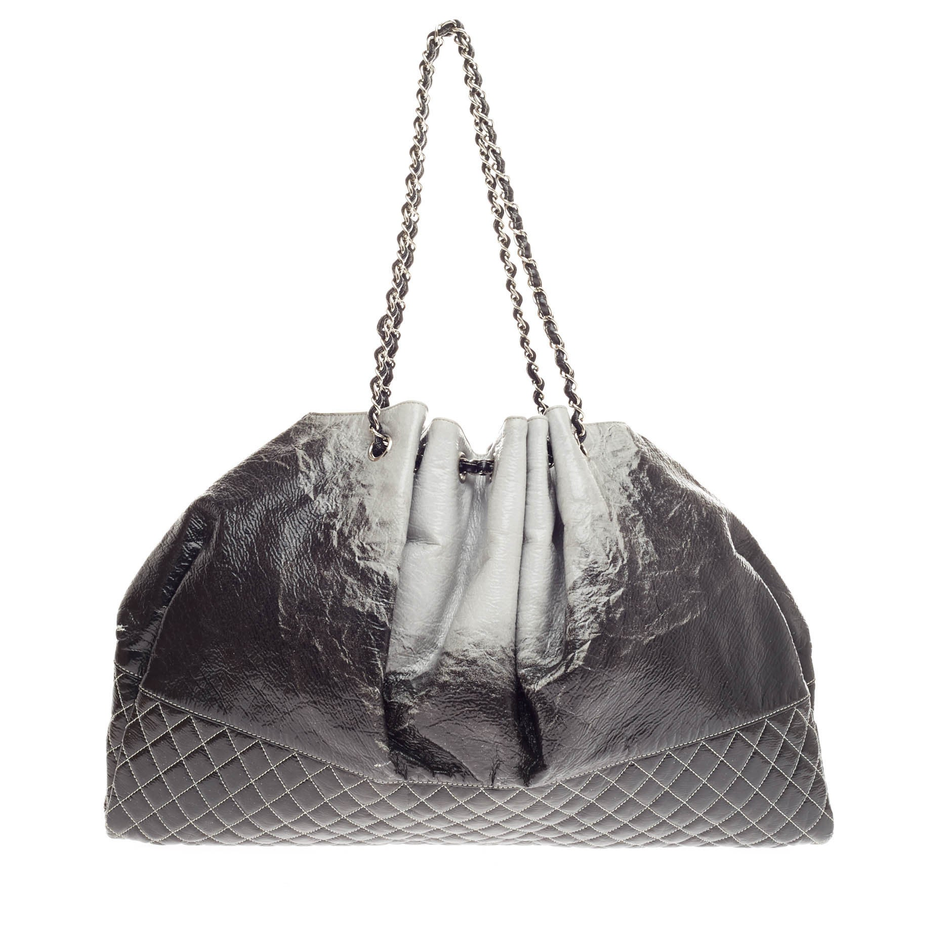 17262802ab91 Chanel Melrose Degrade Cabas Tote Patent at 1stdibs