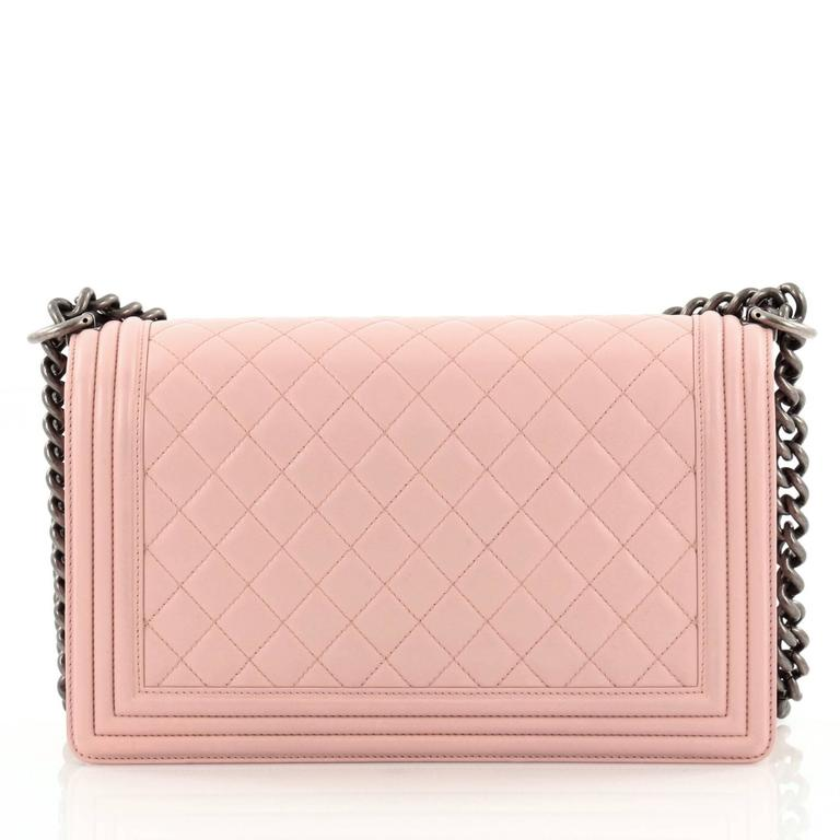 Chanel Boy Flap Bag Quilted Lambskin New Medium 4