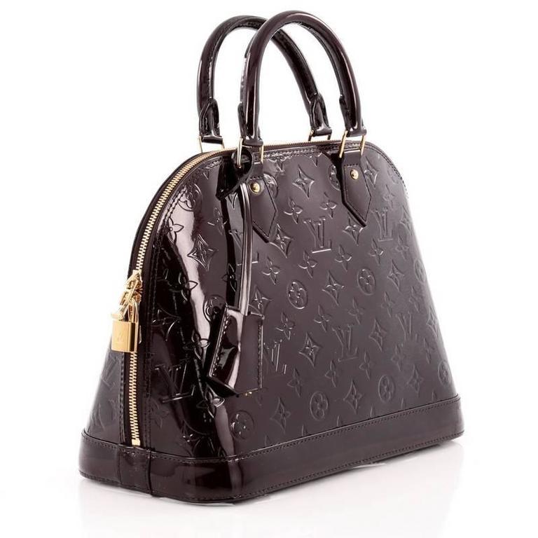 Louis Vuitton Alma Handbag Monogram Vernis PM 3