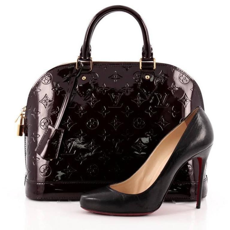 Louis Vuitton Alma Handbag Monogram Vernis PM 2