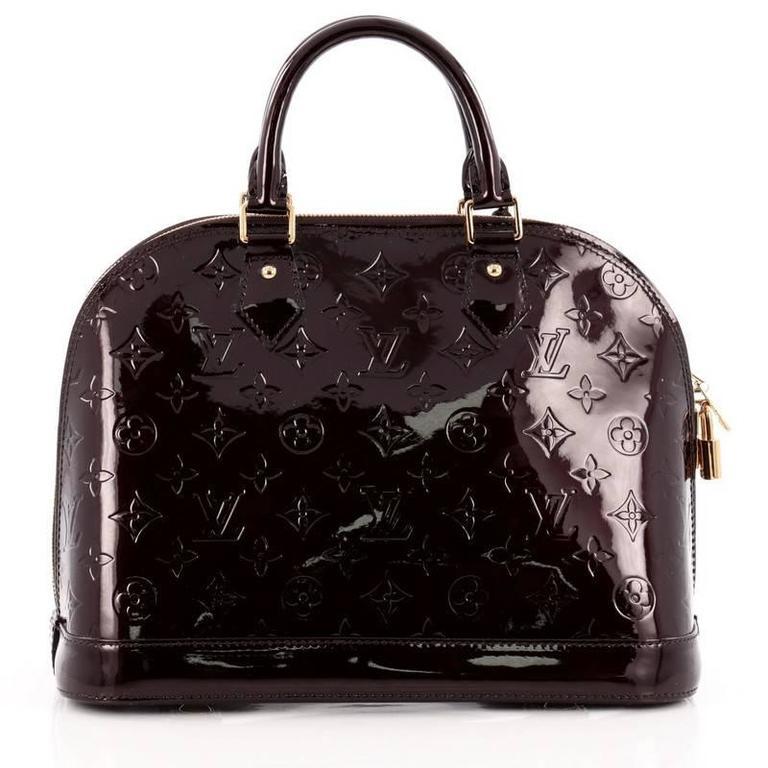 Louis Vuitton Alma Handbag Monogram Vernis PM 4