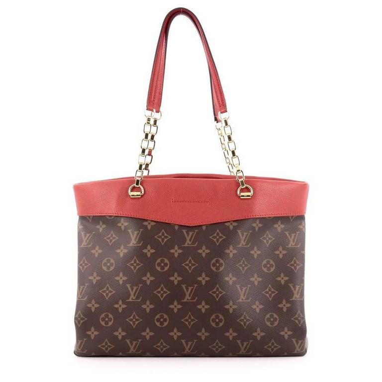 louis vuitton pallas shopper monogram canvas and calf leather at 1stdibs
