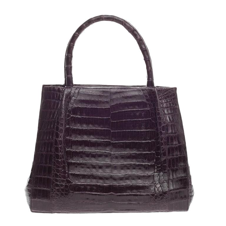 Nancy gonzalez convertible tote pleated crocodile medium for Nancy gonzalez crocodile tote