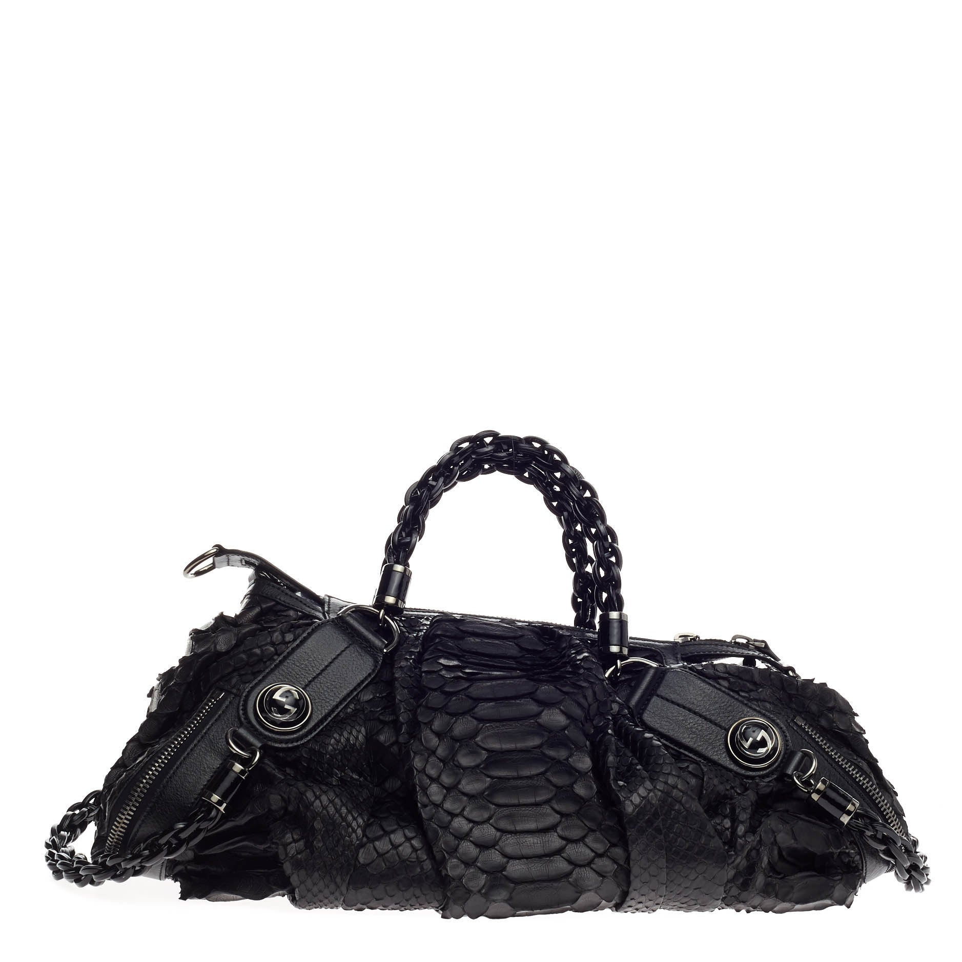 83570b033 Gucci Galaxy Convertible Satchel Python Medium at 1stdibs