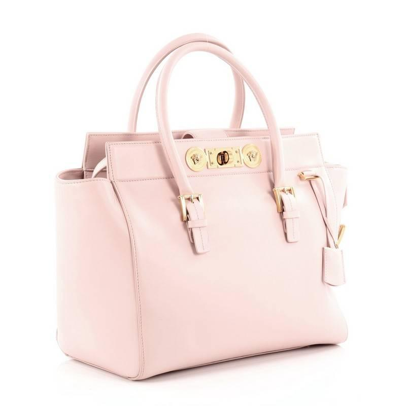 Versace Signature Lock Tote Leather Large at 1stdibs 814424cd6e9d8
