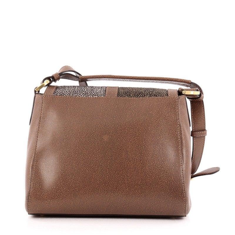 57416c02bb Fendi Anna Flap Bag Stingray and Leather at 1stdibs
