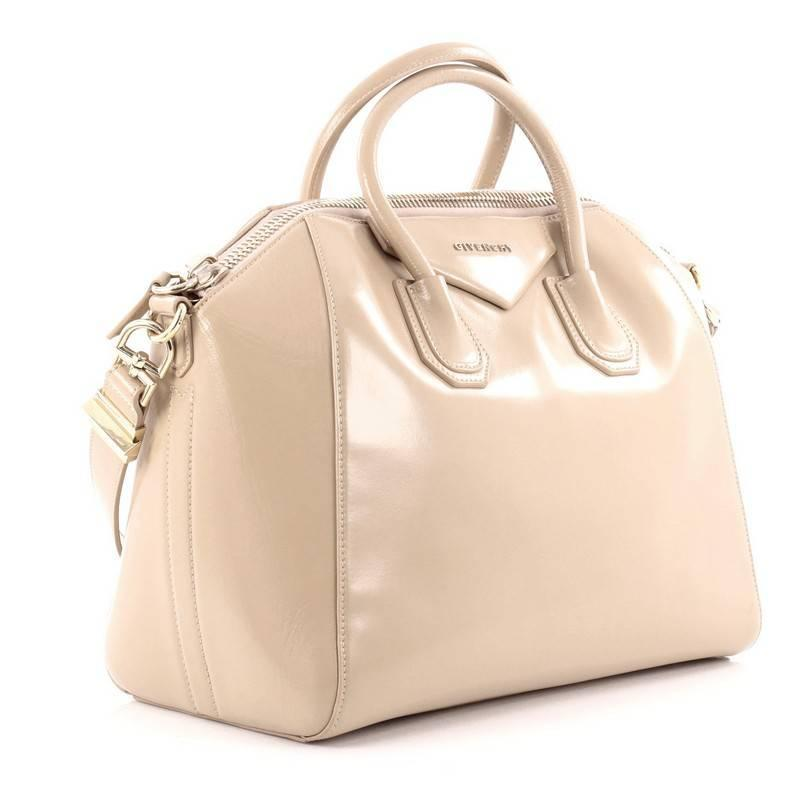 Givenchy Collector Wooden Flap Tote Bag In Beige Canvas And Leather 07KTXdJY