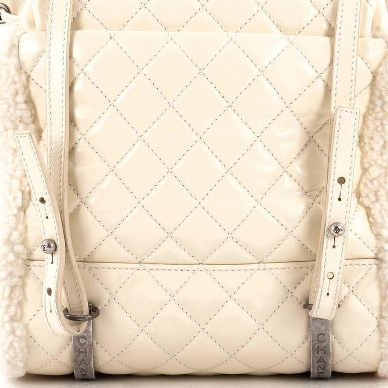 Chanel Mountain Backpack Shearling with Quilted Calfskin Small 7