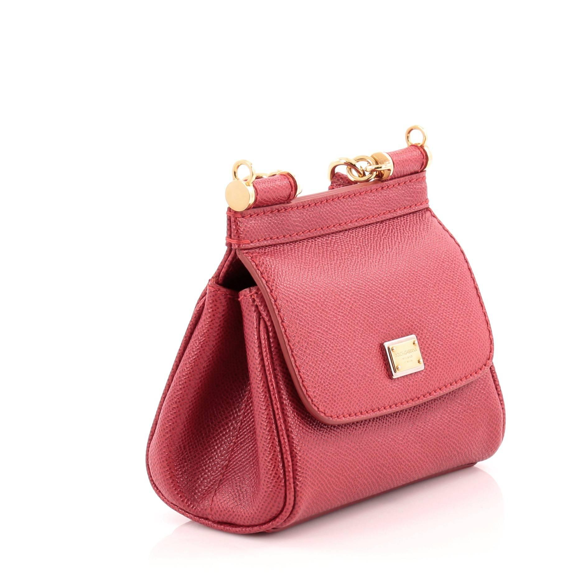 87a382ef27 Dolce and Gabbana Miss Sicily Handbag Leather Micro at 1stdibs