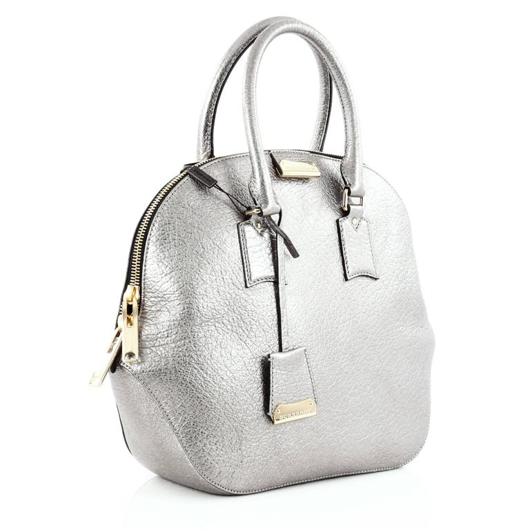 96cc265d6669 Gray Burberry Orchard Bag Heritage Grained Leather Medium For Sale